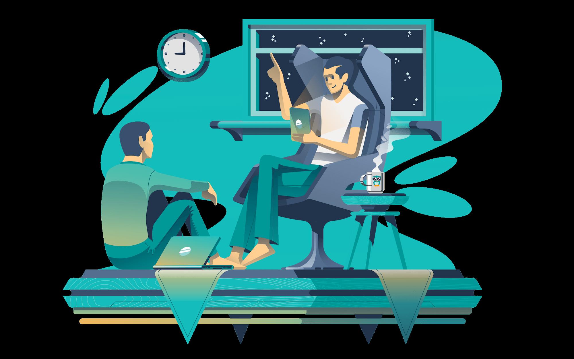 customer stories illustration